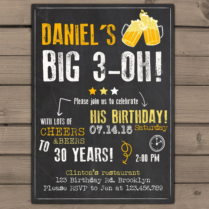 Mens 30th birthday invitations gallery invitation templates free surprise party invitation adult surprise birthday invites filmwisefo