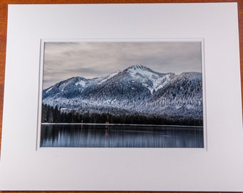 Matted Photograph of Bearclaw Mountain in Petersburg, Alaska