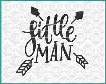 CLN0583 Little Man Arrows Child Son Baby Shirt Boy Infant SVG DXF Ai Eps PNG Vector Instant Download Commercial Cut File Cricut Silhouette