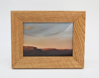 5x7 Solid Oak Picture Frame, Handmade in Colorado