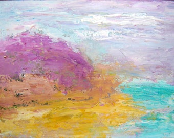 Abstract oil painting/Crystal Cove abstract/ original oil painting\seascape/12x16 inches