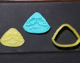 Star Wars Jabba The Hutt Cookie Cutter with Detail Impression Disc/Fondant/Candy/Soap Cutter