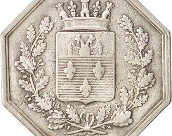 france token ville de versailles 1821 ef(40-45) silver