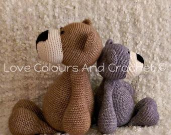 XL Big Brother Bear Amigurumi Stuffed Animal Toy Crochet