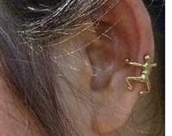 Ear Cuff Brass Little Man