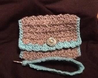 Crochet Emma Wristlet/Clutch
