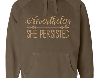 Nevertheless, She Persisted Hoodie Sweatshirt supports the ACLU with purchase