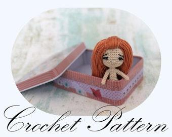 PATTERN: Amigurumi Doll, Crochet Doll, Doll Tutorial, Stiffed Toy Pattern, DOLL PATTERN Only (English Only)
