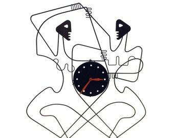 Rare Frederick Weinberg Male Female Wall Clock Original 50's Design
