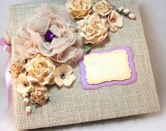 Wedding Guestbook, Winter White Wedding Photo Album, Custom Wedding Scrapbook, 1st Anniversary Gift, Bridal Gift, Parent Gift