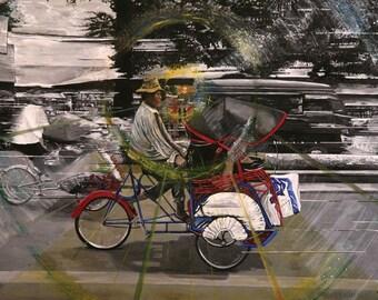 Thailand Tuk Tuk Art Print