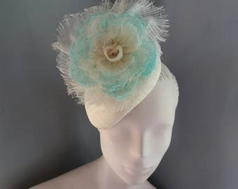 Ivory Flower Cocktail Hat Surf