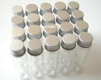 20 Pcs 16x60mm 6ml 3/2 Dram Tiny Small Clear Bottles Glass Vials With Screw Caps/mini bottle/mini jar/herb bottles/cork bottle/cork jar