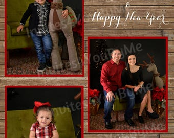Christmas card, announcement, Christmas family, greeting card