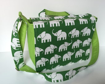 children's bag (M) 'Elephant Walk' green