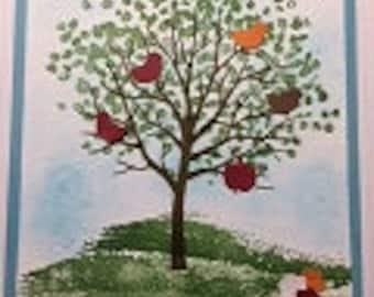 Birds in a Tree Greeting Card