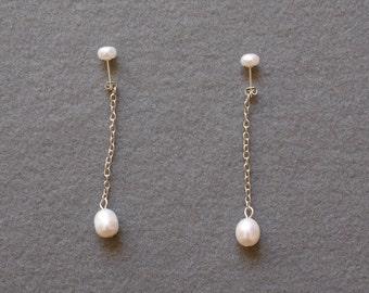 Dewdrop Pearl Earrings