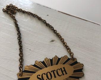 Vintage Scotch Decanter Tag
