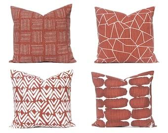 Sofa Pillow Covers - Rust Pillow - Decorative Pillow Covers - Rust Home Decor - Couch Pillow Covers - Throw Pillow Covers - Designer Pillows