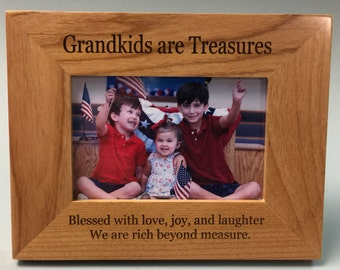 Grandkids are Treasures frame, grandparent gift