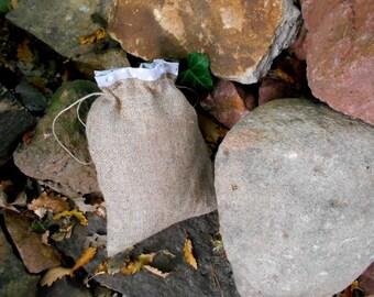 Rustic Lined Burlap storage bag,Rustic, storage basket Jute
