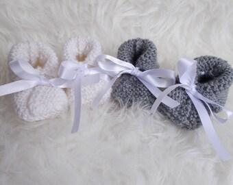wool baby booties newborn baby gift