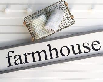 Farmhouse Sign . Farmhouse Decor . Farmhouse Kitchen . Fixer Upper . 30 x 7 . Modern Country . Kitchen Sign . Farmhouse . Framed Sign