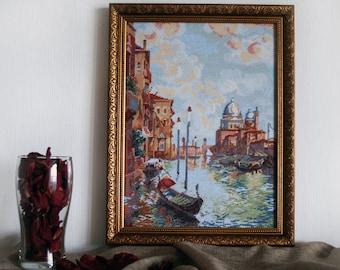 Cross stitch embroidery Venice