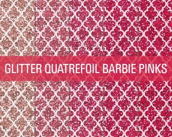 80% OFF SALE Pink Glitter, Moroccan Glitter, Quatrefoil Pattern, Digital Papers, Glitter Digital, Glitter Papers, Glitter Textures