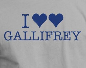 I Heart Gallifrey Shirt Doctor Tee Funny Tshirt