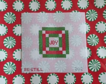 Christmas Joy: a hand-painted needlepoint canvas