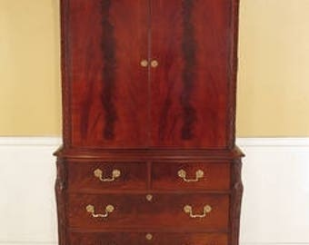 F42578E: HICKORY CHAIR Co. Flame Mahogany Bedroom Or TV Armoire