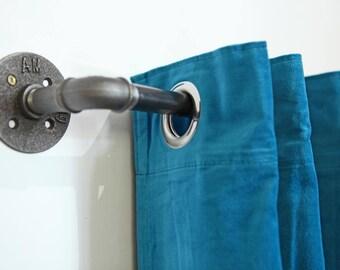 Gardinenstange Loft Stahl curtain rod Industriedesign express shipping