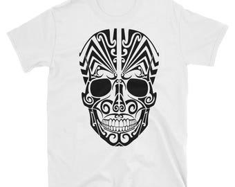 Black tribal skull Tee