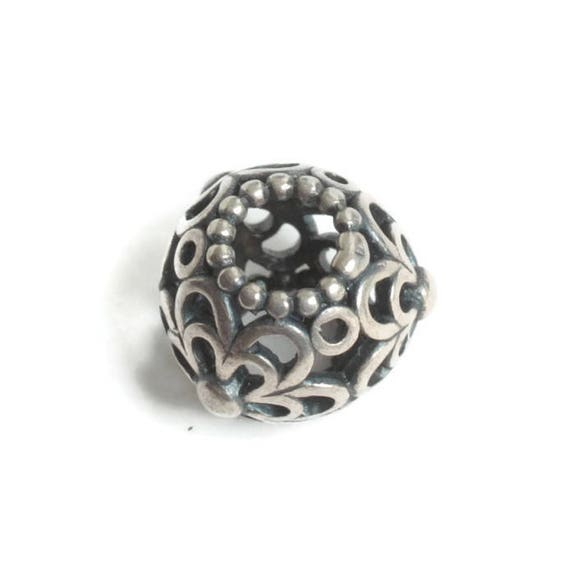 Sterling Pandora Picking Daisies Charm Sterling Silver Spacer Charm