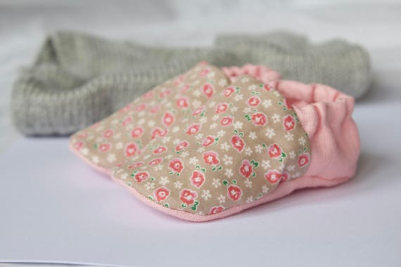 pure linen and floral cotton baby girl shoes