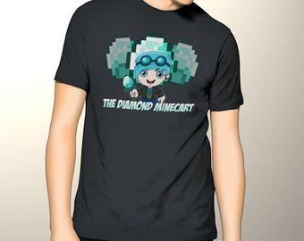 Awesome Gildan Tshirt DanTDM, The Diamond Minecart , The Diamond Minecraft Shirt, Minecrsft Creeper Tshirt, Youtube Fans Tee