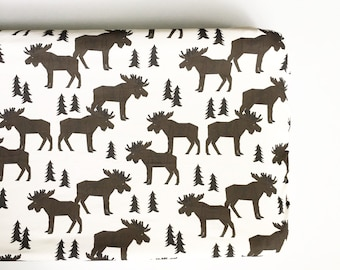 Changing Pad Cover Moose Forest. Change Pad. Changing Pad. Minky Changing Pad Cover. Moose Changing Pad Cover.