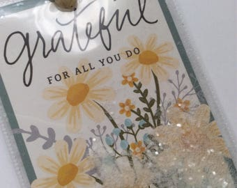 Seed Packet Style Shaker Tag-'Grateful For All You Do'
