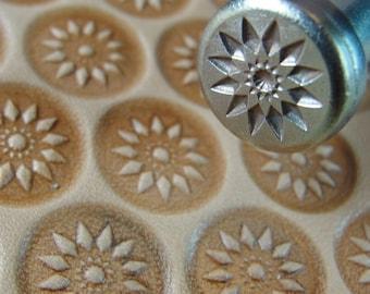 James Linnell - Large 12 Petal Burst Flower Center Stamp (Leather Stamping Tool)