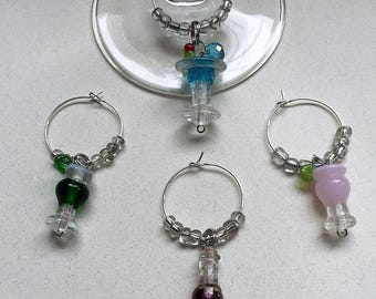 Party Drink Wine Charms