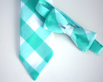 Neck tie for boys, baby bow tie, toddler neck tie, aqua bow tie, boys easter outfit, little boy tie, baby boy tie, easter tie for kids