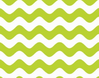 ONLY 4.00 per yard!  Riley Blake Wave Basics in Lime  C415-32