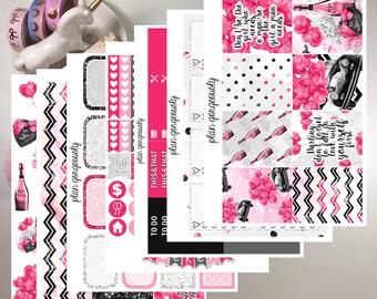 "Erin Condren and Happy Planner Sticker Kit - ""Be Mine"" - Valentines Planner Stickers - Valentines Stickers"