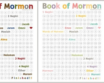Book of Mormon Reading Chart - Instant Download