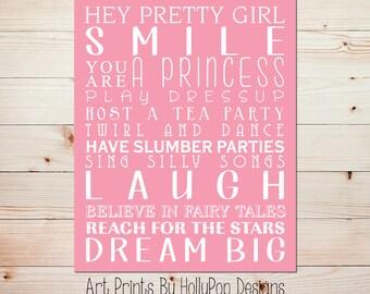 Girl art print Baby wall decor Nursery quotes Girls room decor Girl quotes Kids wall art Baby girl nursery Toddler girl bedroom art #0714