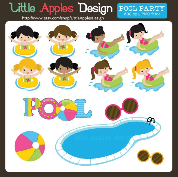 Pool clip art pool clipart pool party clip art pool for Free clipart swimming pool party