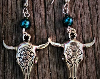 tribal Bull Handmade Earrings