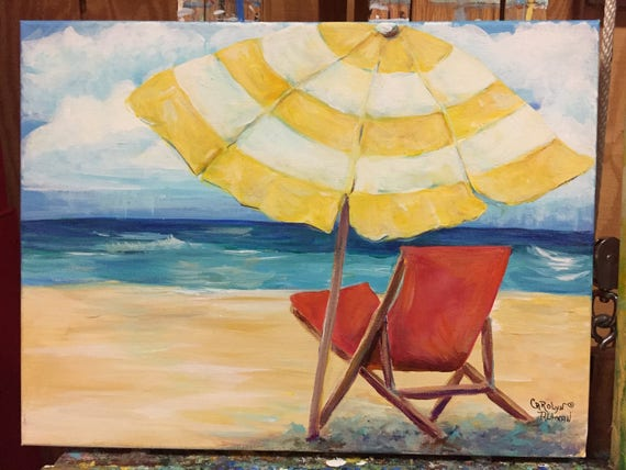 A Soothing Day at the Beach Original Painting
