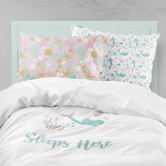 Mermaid Bedding Pink Aqua Bedding Mermaid Girl Room Ocean